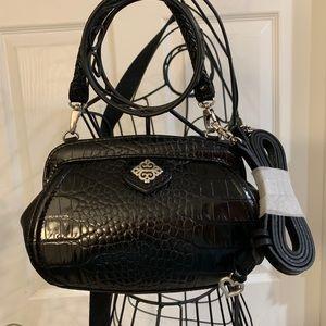 Brighton black leather cross body purse